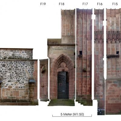 Fassadenabwicklung Dom Wetzlar